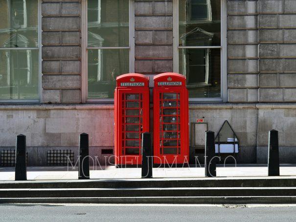 Afbeelding London rode telefooncellen