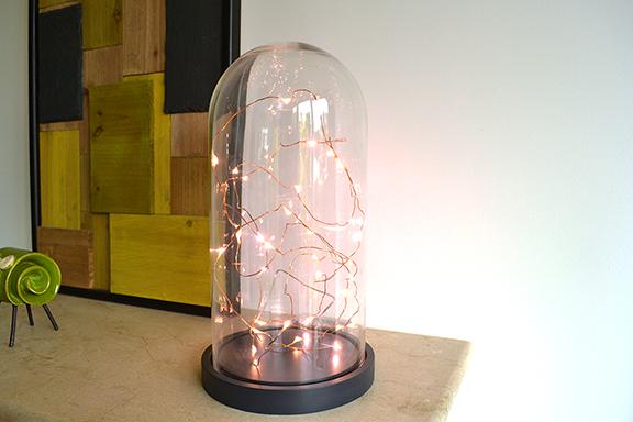 Afbeelding stolp met lichtjes