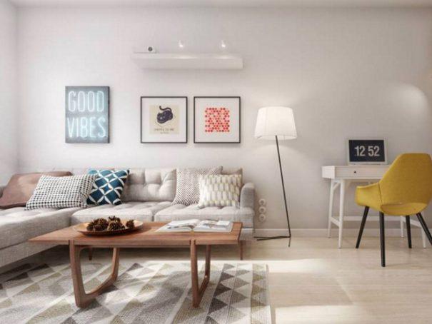 Woonkamer ideeen groen accentmuur schilderen tips kleuren amp muren kiezen - Interieur decoratie ideeen ...