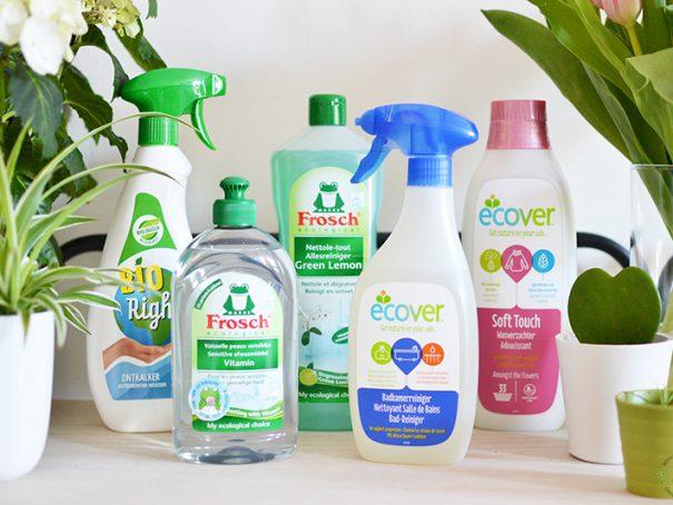 Afbeelding ecologische producten van huishoudplein