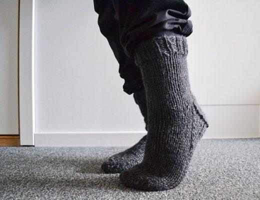 Gebreide sokken van Drops Nepal garen