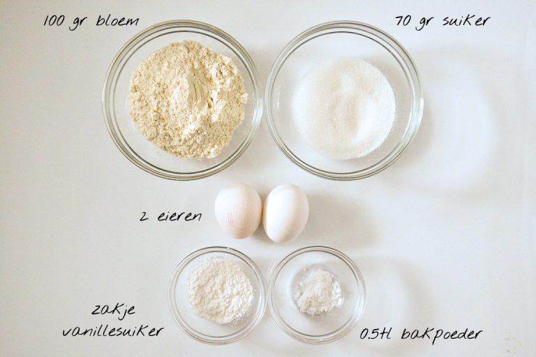 Afbeelding recept eierkoeken benodigdheden