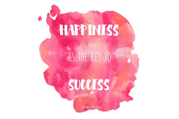 Afbeelding quote happiness is the key to success