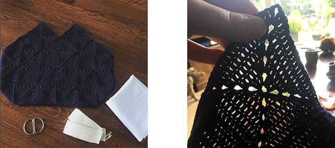 Afbeelding proces van gehaakte tas
