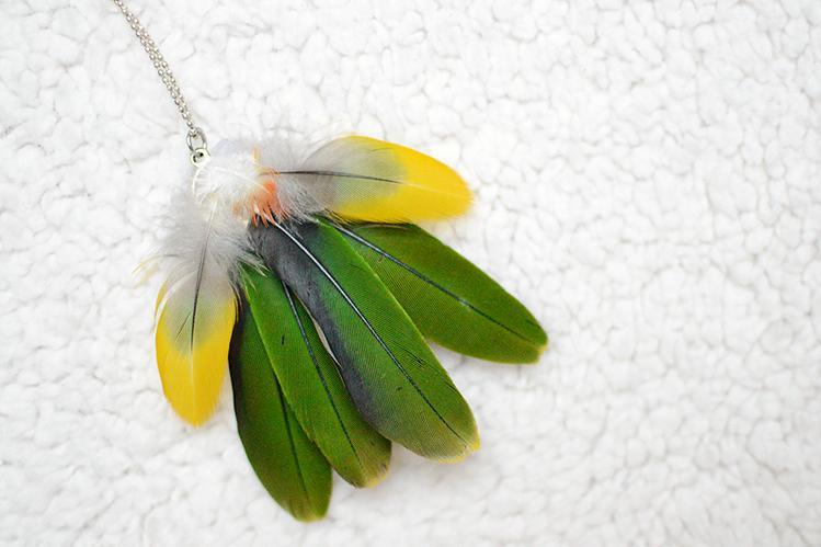 Afbeelding mango veren ketting