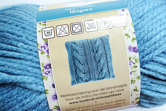 Afbeelding instructies kussenhoes breien
