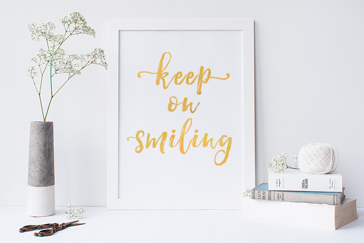 Afbeelding quote keep on smiling
