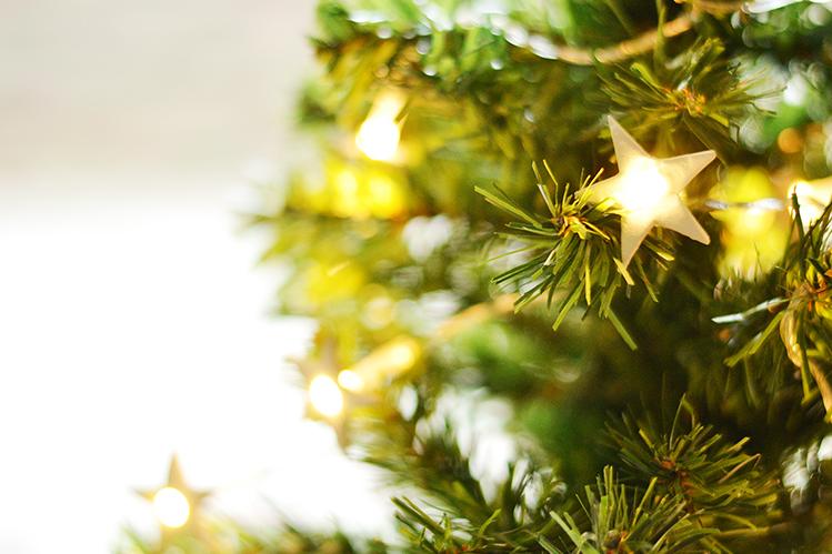 Afbeelding sterrenslinger kerstboom