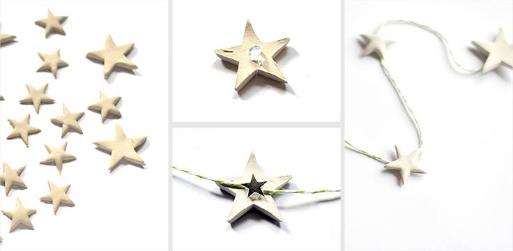 Afbeelding instructies sterrenslinger van klei