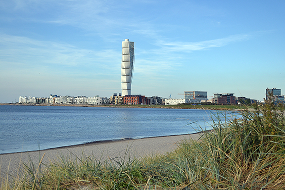 Afbeelding turning torso van Malmö