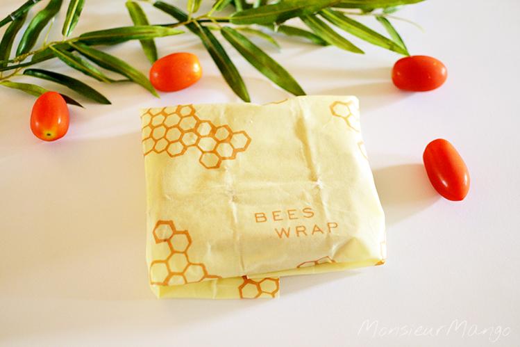 Afbeelding Bee's Wrap bijenwasdoek boterham verpakt