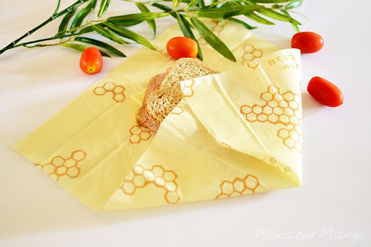 Afbeelding Bee's Wrap bijenwasdoek boterham