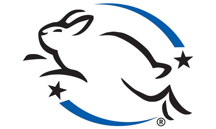 Afbeelding Leaping Bunny logo