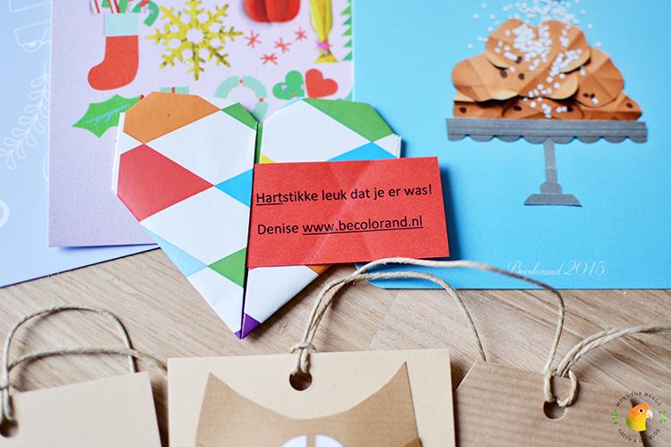 Afbeelding PaperPassion bedankt BeColorAnd kaartje