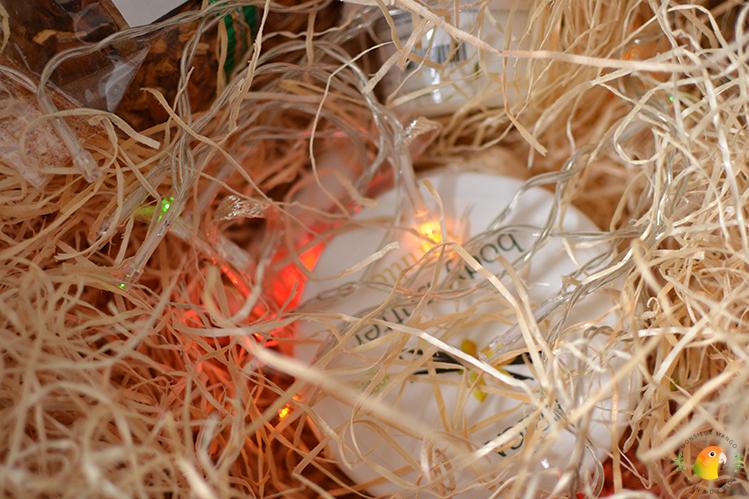 Afbeelding feestdagenpakket Erica Kruiderijen inhoud met kerstlichtjes