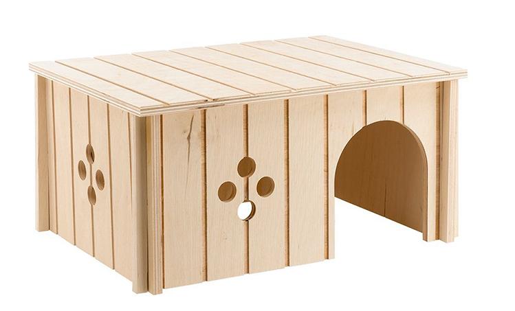 Afbeelding een egel als huisdier #2: een houten huisje
