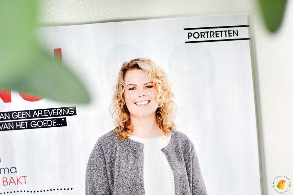 Afbeelding tijdschrift Vriendin close-up Inge