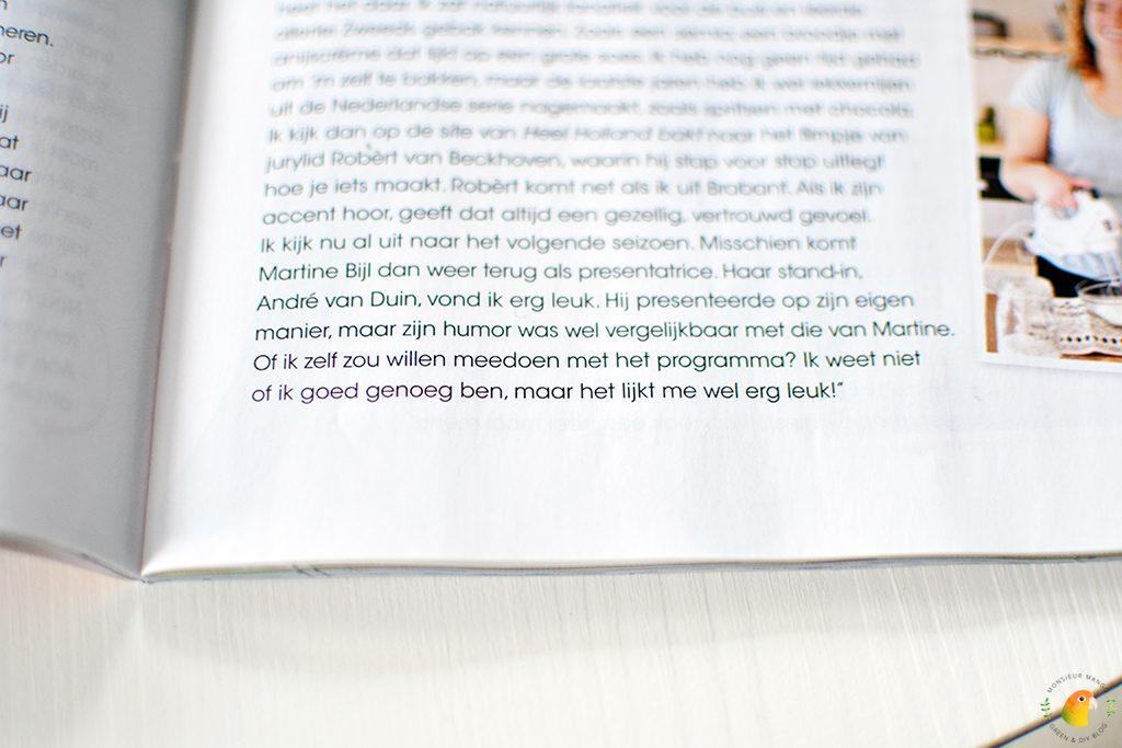 Afbeelding tijdschrift Vriendin tekst