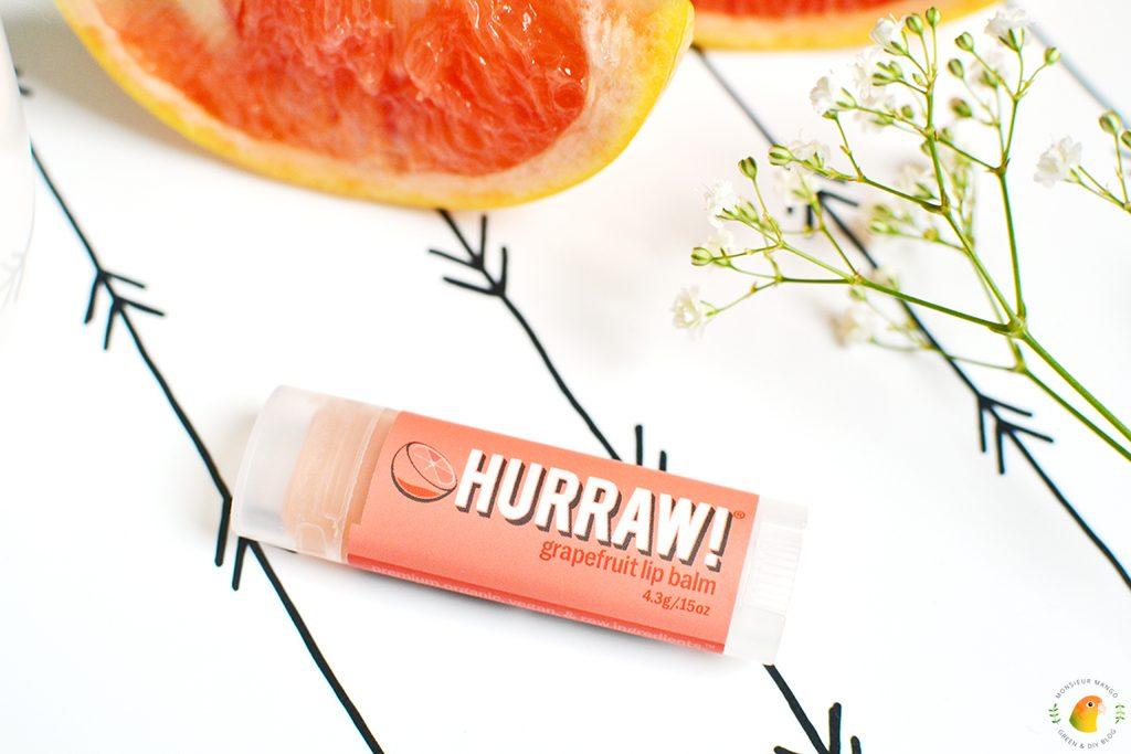 Afbeelding lippenbalsem Hurraw! grapefruit