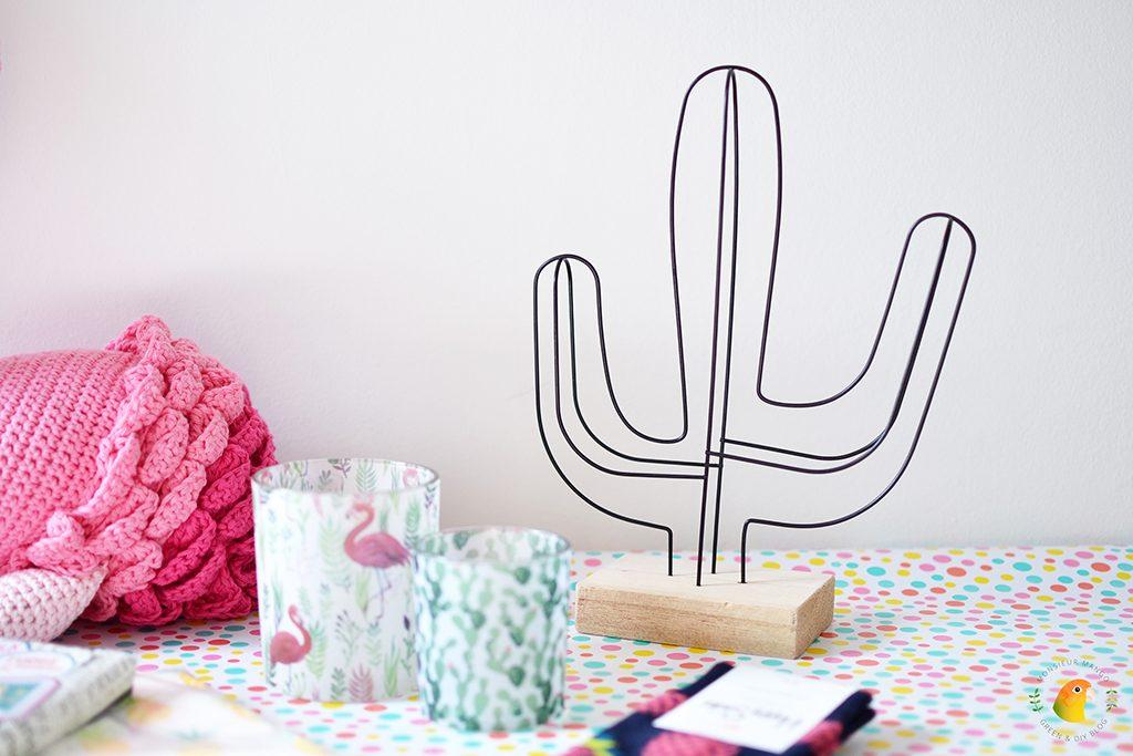 Afbeelding Echte Post Is Cool #4 gegeven cadeautje: cactus van draad