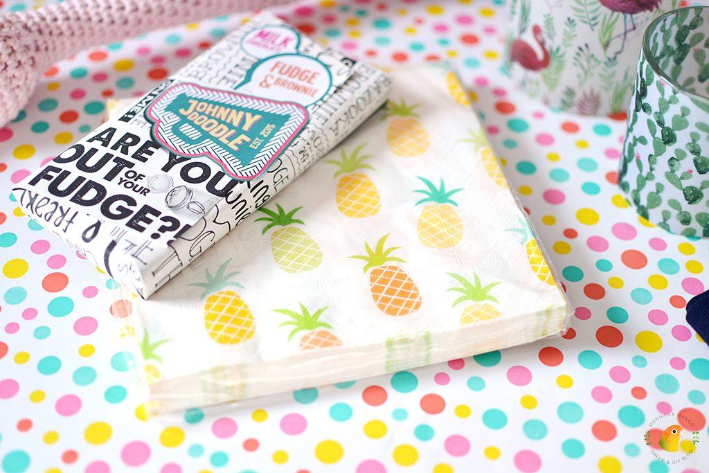 Afbeelding Echte Post Is Cool #4 gegeven cadeautje: ananas servetten