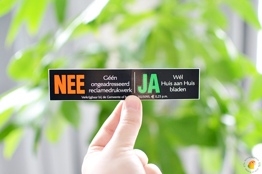 Afbeelding Nee / Ja brievenbus sticker