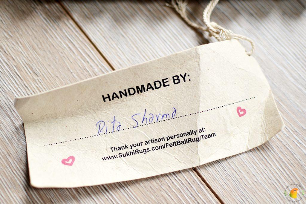 Afbeelding bolletjeskleed van Sukhi gemaakt door label