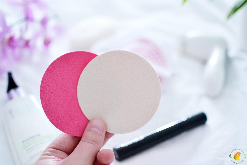 Afbeelding wasbare wattenschijfjes in roze en wit