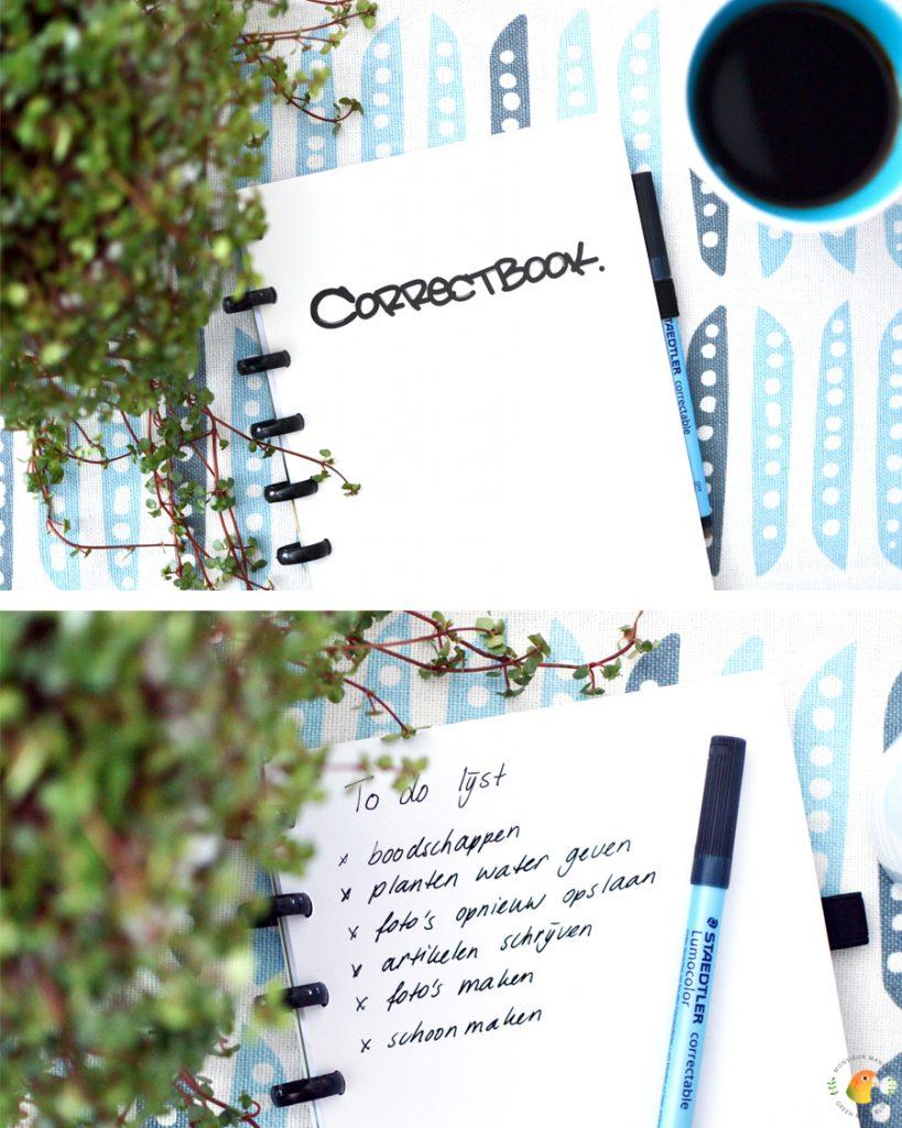 Correctbook: een duurzaam en herbruikbaar notitieboekje | Monsieur Mango