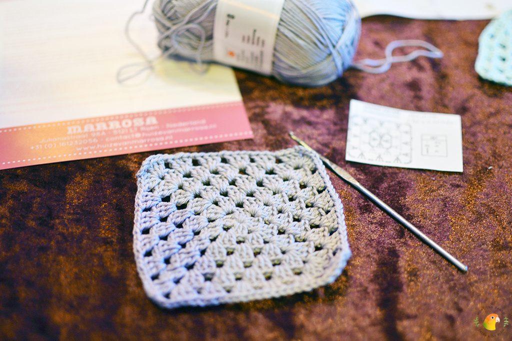 Afbeelding Knit & Knot mijn gehaakte vierkantje voor het grootste gehaakte deken