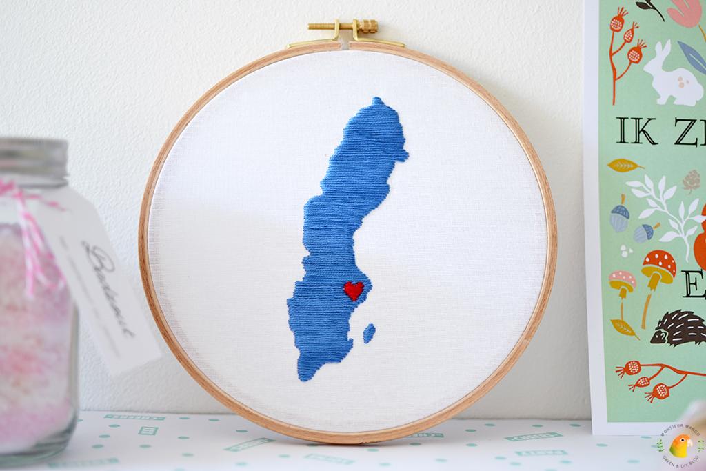 Echte Post Is Cool #5 gegeven geborduurde kaart Zweden