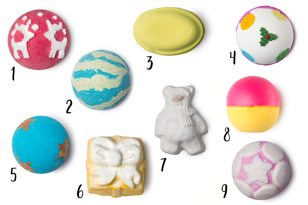 Lush Wintercollectie 2017 Bath Bombs