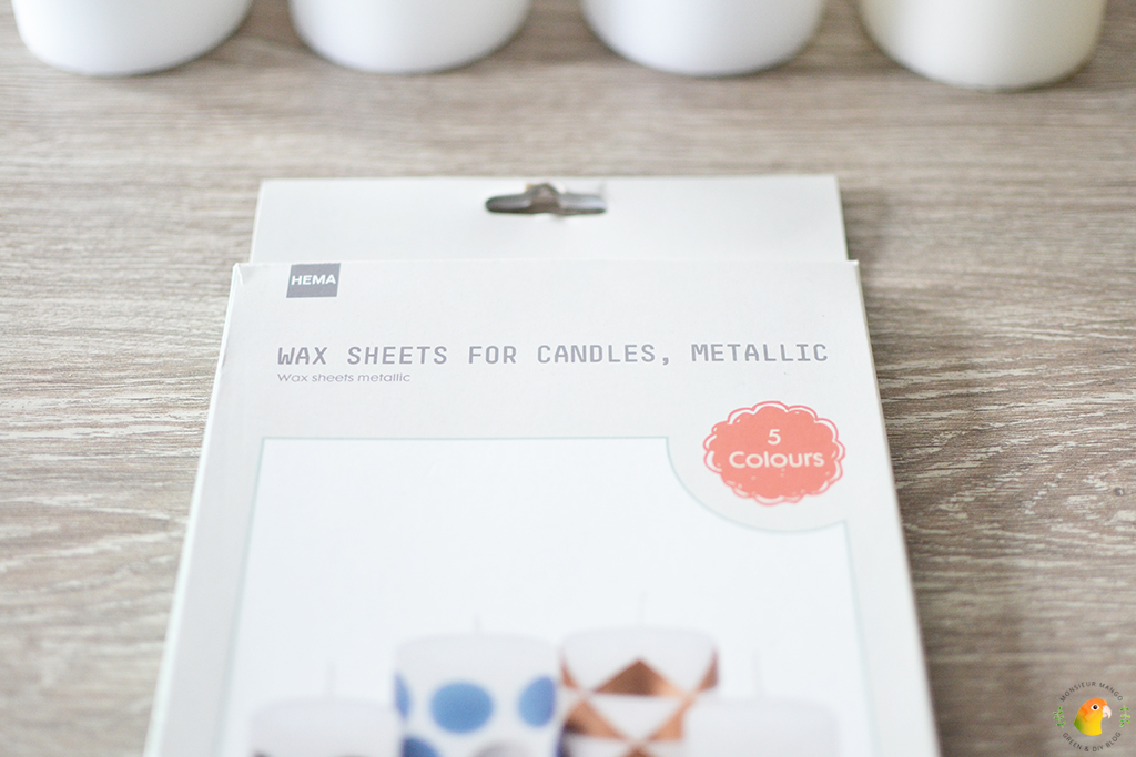 DIY Adventskaarsen maken wax sheets van de Hema