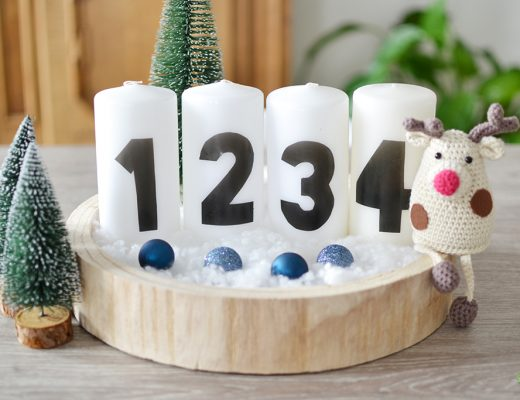 DIY Adventskaarsen maken close-up
