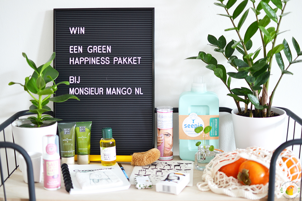 Win een green happiness pakket bij MonsieurMango.nl
