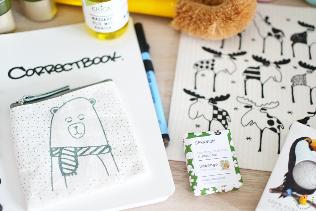 Win een green happiness pakket bij MonsieurMango.nl - katoenen portemonneetje