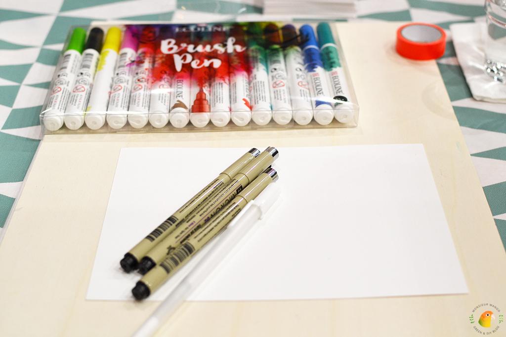 KreaDoe 2017 workshop: Tekenen met Brushpennen van Paper Den