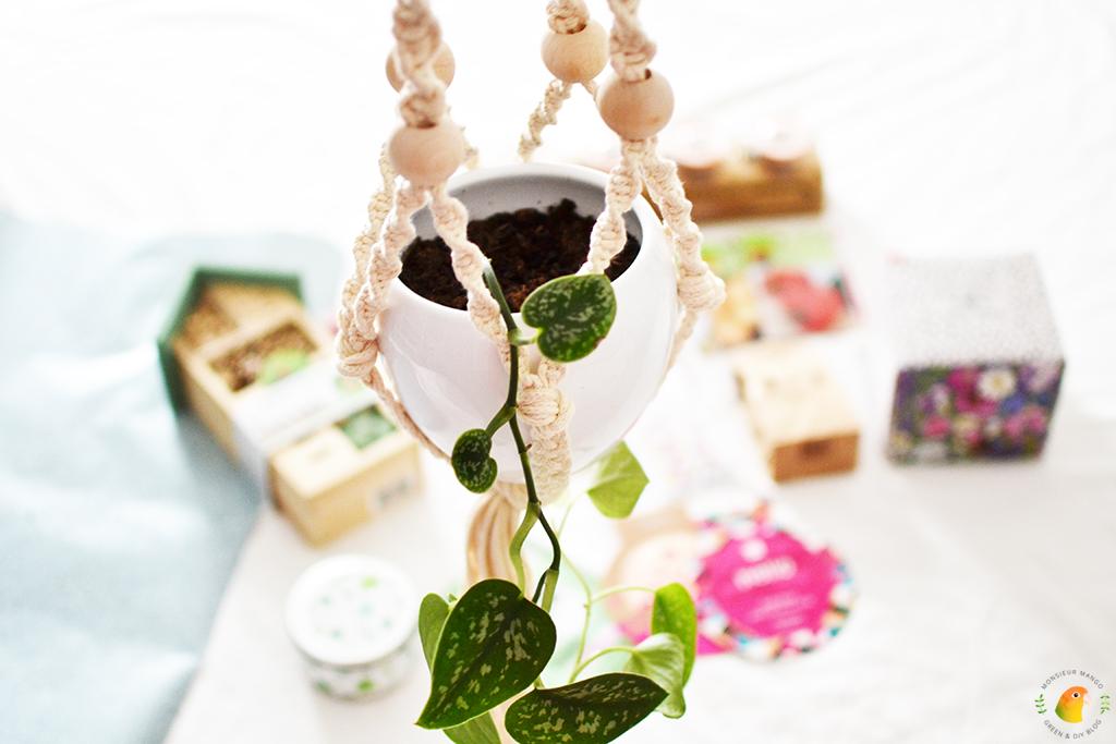 Echte Post Is Cool #6 gegeven cadeau handgemaakte plantenhanger