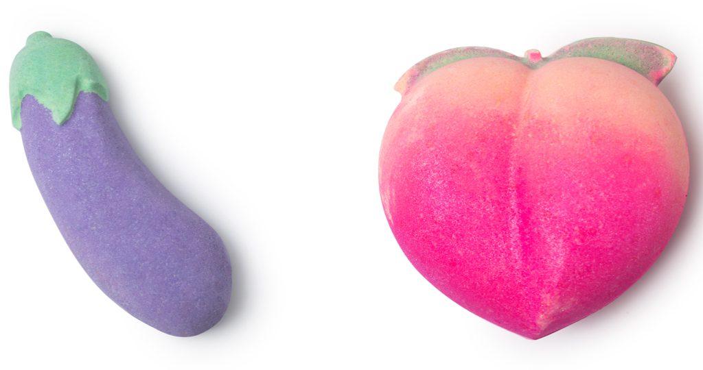 Lush Valentijnscollectie 2019 Bath bombs Aubergine en Peachy