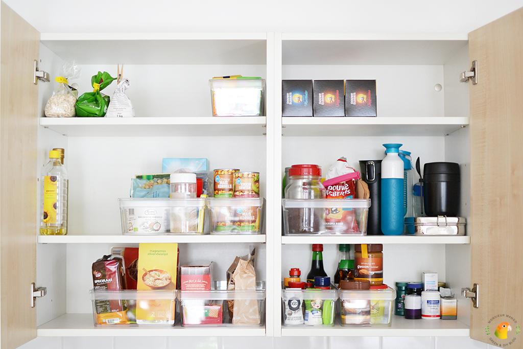 Keukenkastjes organiseren ná foto