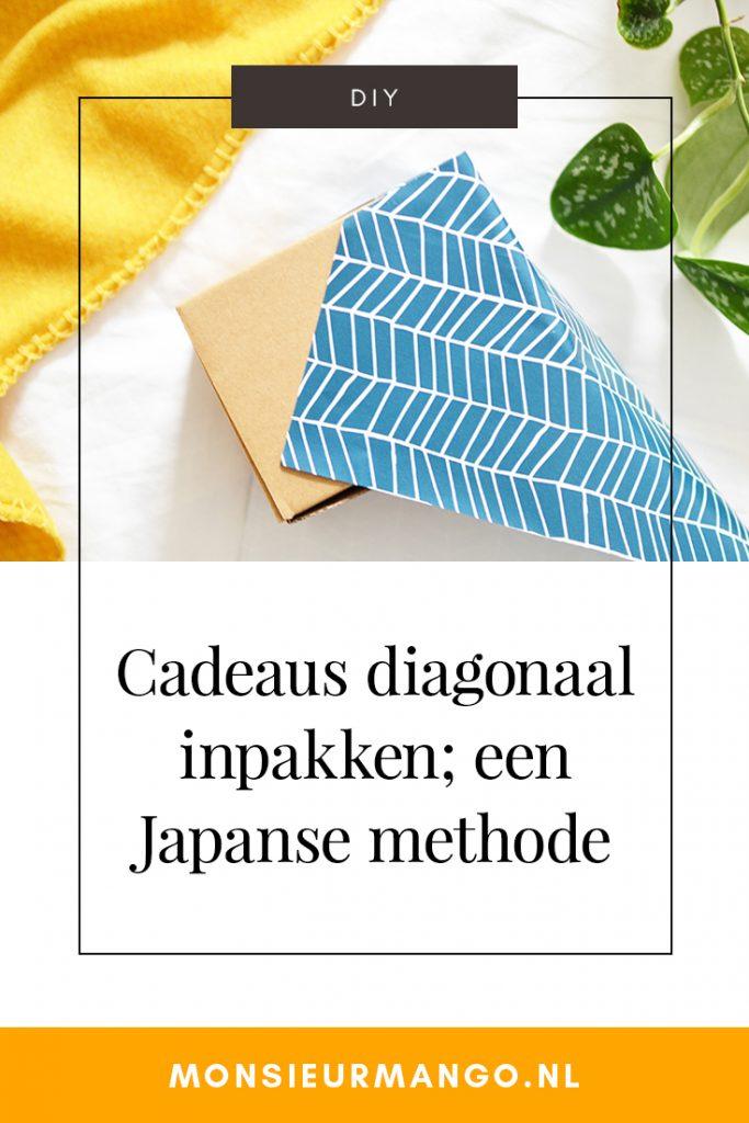 Cadeaus diagonaal inpakken; een Japanse methode | Monsieur Mango